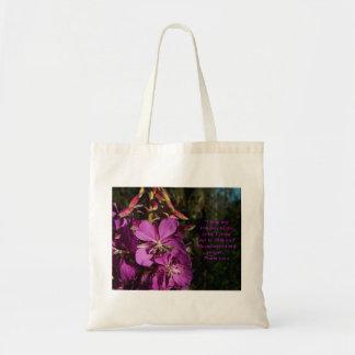 120:1 del salmo que anima la bolsa de asas floral