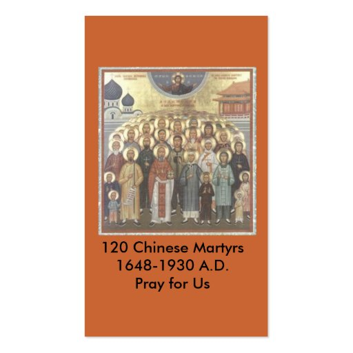 120 Chinese Martyrs Remembrance Card Business Card Template