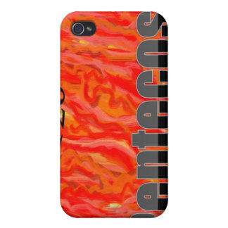 120 Degree Pentecost Flames iphone 4/4s iPhone 4 Case