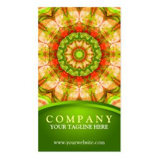 120) mandalas verde roja de las manzanas ( tarjetas de visita