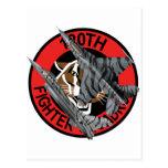 120o Halcón que lucha del F-16 del escuadrón de ca Tarjetas Postales