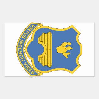 120o Regimiento de infantería Rectangular Pegatina