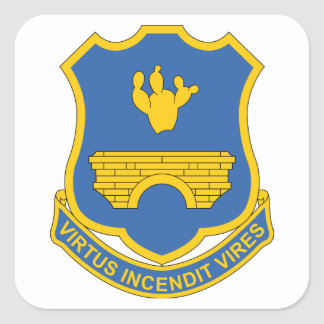 120o Regimiento de infantería Pegatina Cuadradas Personalizadas