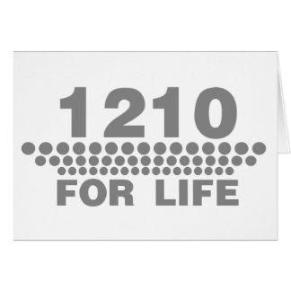 1210 For Life -Turntable DJ Deck Music Disc Jockey Greeting Cards