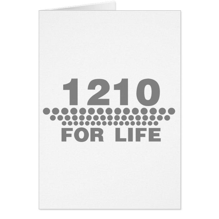 1210 For Life -Turntable DJ Deck Music Disc Jockey Card