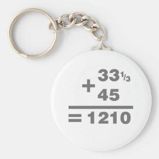 1210 matemáticas de la placa giratoria - cubierta  llavero redondo tipo pin