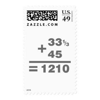 1210 Turntable Maths - DJ Djing Disc Jockey Deck Stamp