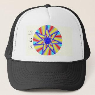 121212 Rainbow Star Burst Trucker Hat