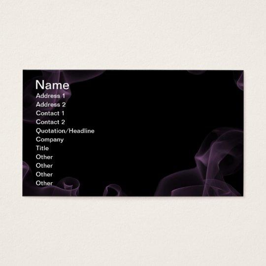1212 DARK EMO PURPLE BLUE SMOKE BLACK NIGHT GRAPHI BUSINESS CARD