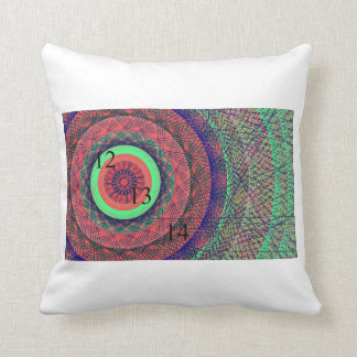 121314 Rainbow Ring Throw Pillow