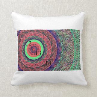 121314 Rainbow Ring Throw Pillow