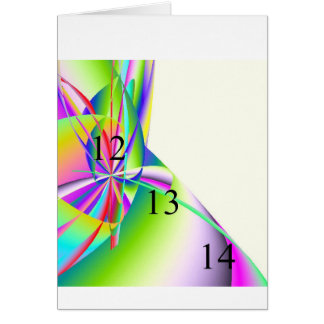 121314 Rainbow Swoosh Greeting Card
