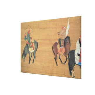 1214-94) cazas de Kublai Khan ((detalle), dynas de Lienzo Envuelto Para Galerías