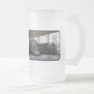 1218 - End of the line 16 Oz Frosted Glass Beer Mug