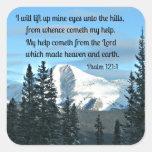 121:1 del salmo levantaré para arriba ojos de mina colcomanias cuadradass