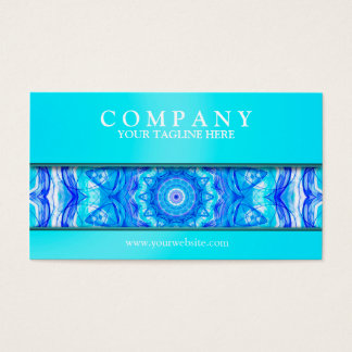 121 Enchanted SeaStar mandala modern light Business Card