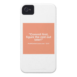 121 Small Business Owner Gift - Commt Now iPhone 4 Case