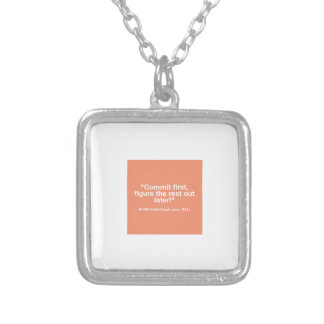 121 Small Business Owner Gift - Commt Now Silver Plated Necklace