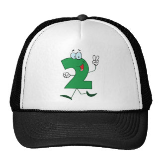 1237 Cartoon Character Happy Number TWO YEARS TWIN Trucker Hat