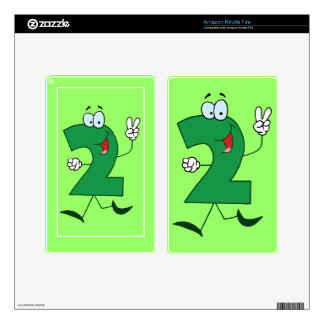 1237 Cartoon Character Happy Number TWO YEARS TWIN Kindle Fire Skins