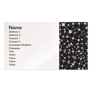 123 ABSTRACT STARS BLACK SPACE UNIVERSE RANDOM CON Double-Sided STANDARD BUSINESS CARDS (Pack OF 100)