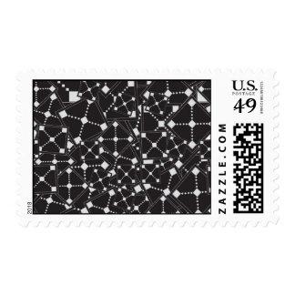 123 ABSTRACT STARS BLACK SPACE UNIVERSE RANDOM CON POSTAGE