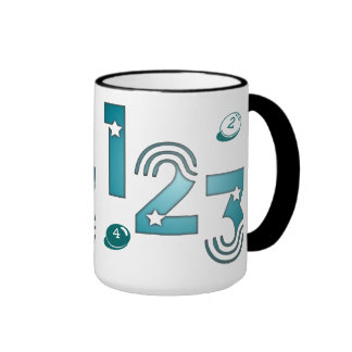 123 azul taza de dos colores