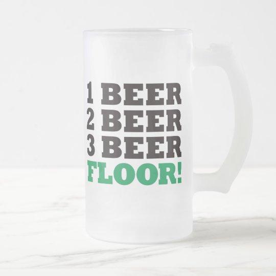 123 Beer Floor - Green Frosted Glass Beer Mug