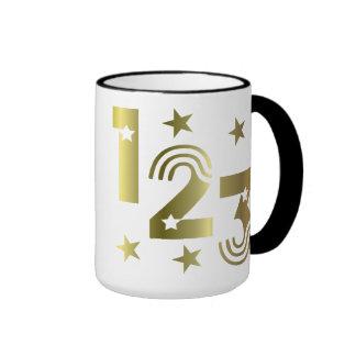 123 de oro taza de dos colores