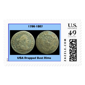 123 dime Draped_Bust_dime, USA Drapped Bust Dim... Postage Stamps