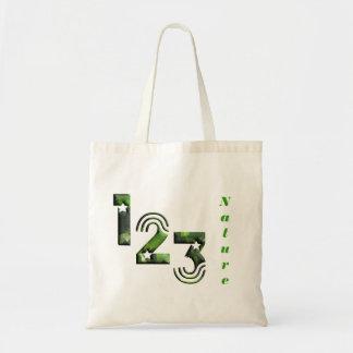 123 green tote bag