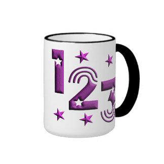 123 lila taza de dos colores