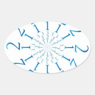 123 Mandala Oval Sticker