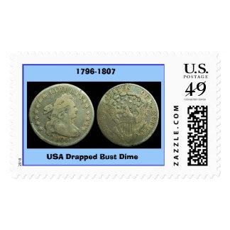 123 moneda de diez centavos Draped_Bust_dime, Envio