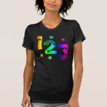 123 regenbogen camisetas