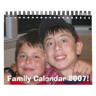 12406cd 001 Family Calendar 2007