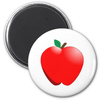 12408485131390345704magiaaron_Cartoon_Apple.svg.me 2 Inch Round Magnet