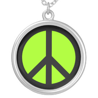 1242799705319243656Peace_sign Round Pendant Necklace