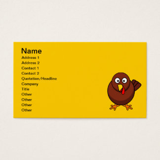 12456965191856571265bloodsong_Turkey-RoundCartoon Business Card