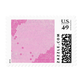 124 GRUNGE HOT PINK GEOMETRIC SHAPES CLUSTERS GRUN POSTAGE