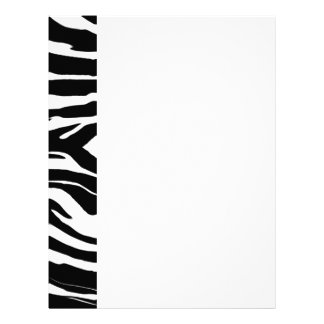 124mu ZEBRA PATTERN ANIMAL PRINTS BACKGROUNDS TEMP Letterhead