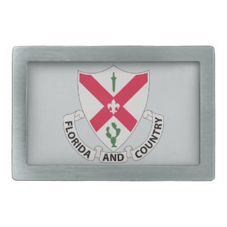 124th Infantry Regiment - Florida and Country Rectangular Belt Buckle