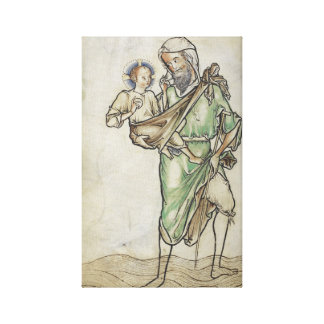 1250 ST. CHRISTOPHER CARRYING CHRIST CHILD CANVAS