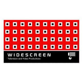125 cuadrados con pantalla grande tarjeta de visita