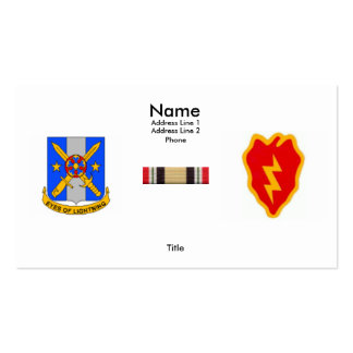 125th MI BN 25th ID (L) with OIF Service Ribbon Double-Sided Standard Business Cards (Pack Of 100)