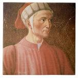 1265-1321) detalles de su busto, franco de Dante A Azulejo Cuadrado Grande