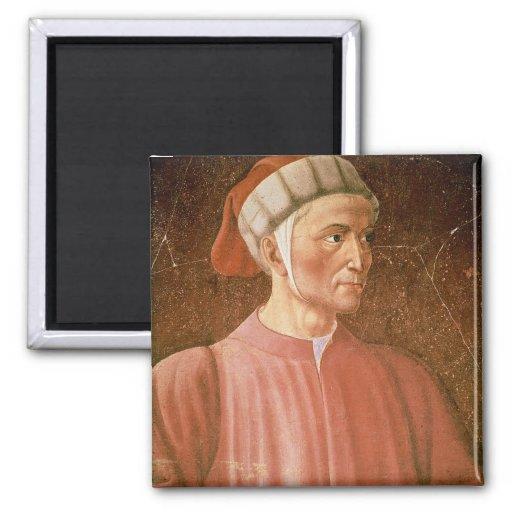 1265-1321) detalles de su busto, franco de Dante A Iman