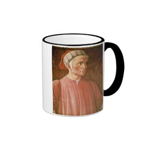 1265-1321) detalles de su busto, franco de Dante A Taza A Dos Colores