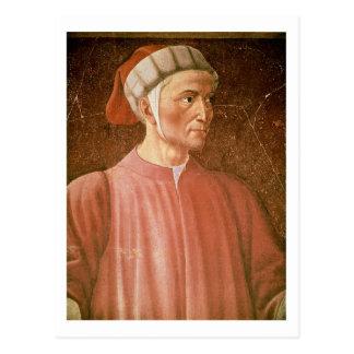 1265-1321) detalles de su busto, franco de Dante Tarjeta Postal