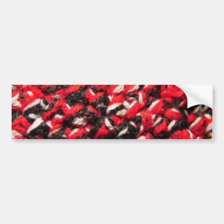 1269 RED WHITE KNITTED MATERIAL BACKGROUNDS TEXTIL BUMPER STICKERS